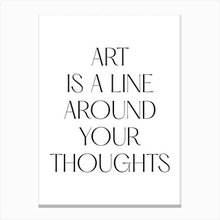 Art Is A Line Around Your Thoughts Klimt Quote Canvas Print