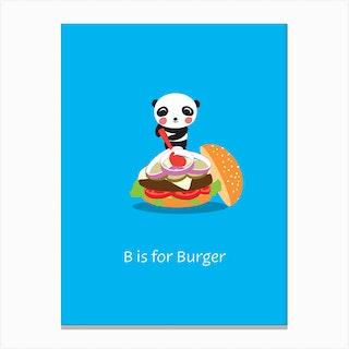 Burger Panda Canvas Print