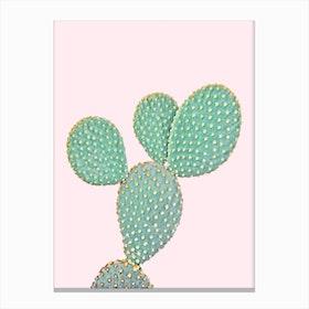 Cactus On Pink II Canvas Print