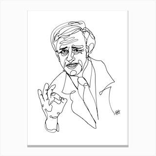 Alan Partridge I Canvas Print