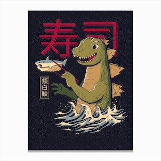 Monster Sushi Canvas Print