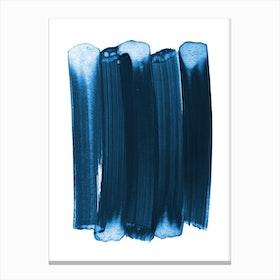 Indigo Strokes Canvas Print