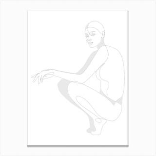Lined Posture Canvas Print