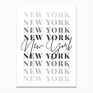 New York Fade Font 2 Canvas Print