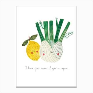 Love Vegans Canvas Print