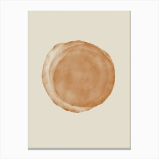 Simple Object On Beige Canvas Print
