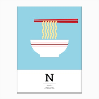 The Food Alphabet – N Canvas Print