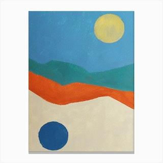Double Sun Canvas Print