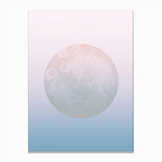Light Pastel Moon Canvas Print