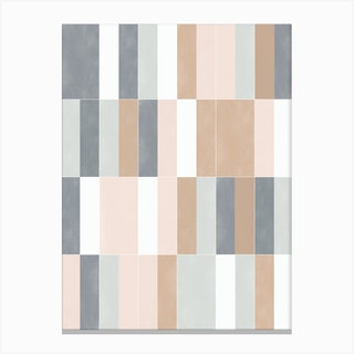 Muted Pastel Tiles 02 Canvas Print
