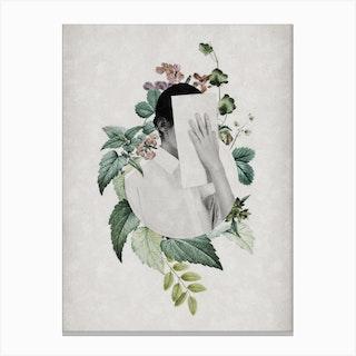 Floral Portrait Canvas Print
