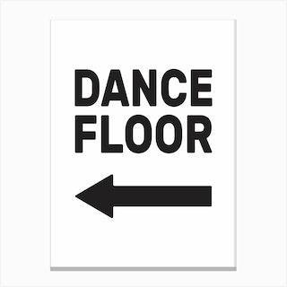 Dance Floor Left Canvas Print