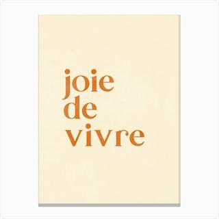 Joie De Vivre Canvas Print