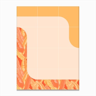 Mid Century Tropical Orange Style Canvas Print