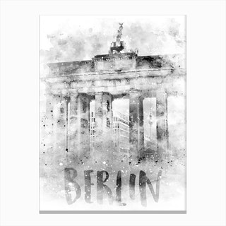 Watercolor Berlin Brandenburg Gate Canvas Print