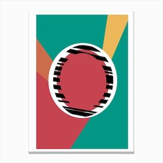 O Geometric Font Canvas Print
