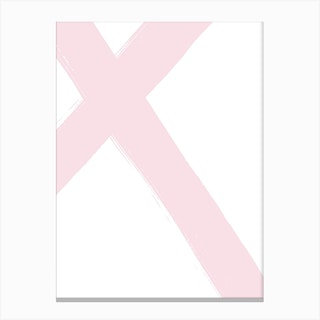 Abstract Pink Cross Canvas Print