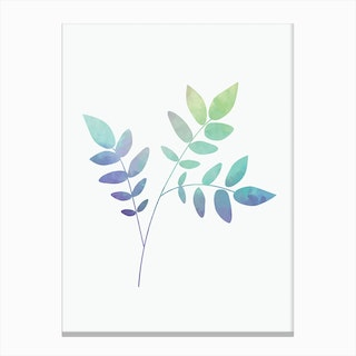 Watercolor Botanical Canvas Print