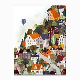 Forrest City Canvas Print
