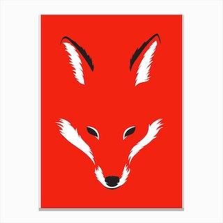 Foxy Shape Canvas Print
