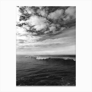 Monochrome Surfing Canvas Print