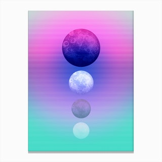 Moon Quartett Canvas Print