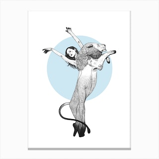 She Is A Lion Canvas Print