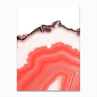 Living Coral Agate Canvas Print