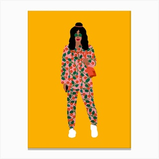 Fashion Week Girl Canvas Print