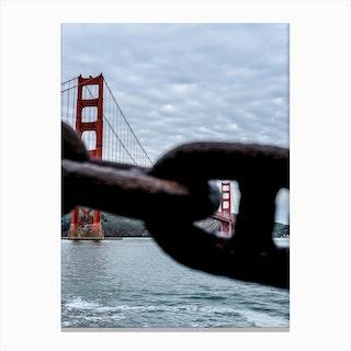 Peeking Golden Gate Bridge Canvas Print