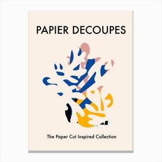 Papiers Paper Cut Multicolour Canvas Print