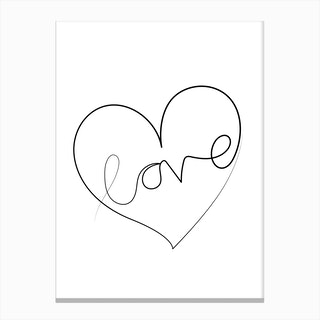 Love Lines Canvas Print