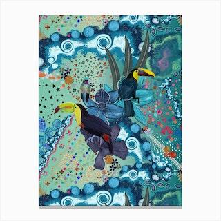 Toucan Humming Bird Canvas Print