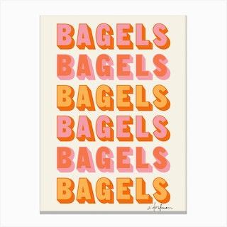 Bagels Bagels Bagels Canvas Print