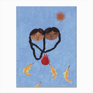 Fire And Sun Canvas Print