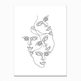 Mono 2 Canvas Print