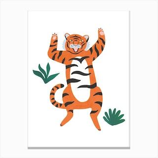 Yelling Tiger Canvas Print