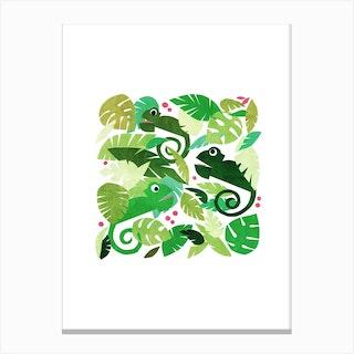 Kids Room Chameleons Canvas Print