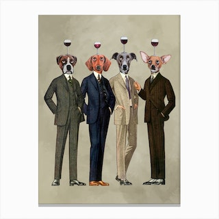 The Wineclub Canvas Print