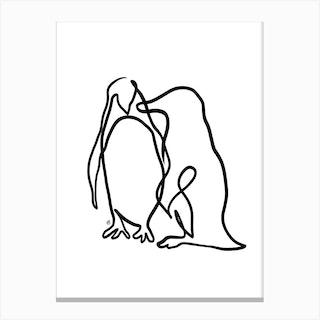 The Penguins Canvas Print