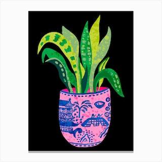 Wilow Pattern Plant Canvas Print