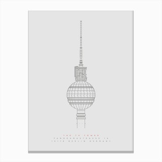 The TV Tower Canvas Print