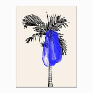 Tropical Tree Blue Canvas Print