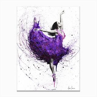 Purple Plum Ballet Canvas Print