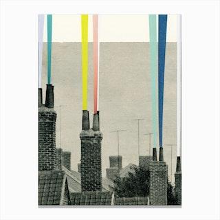Smoke City Canvas Print