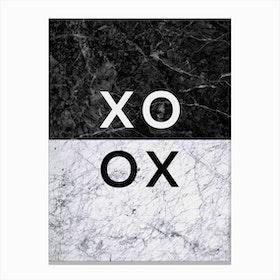 XO B&W Canvas Print