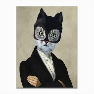 Batman Cat Canvas Print