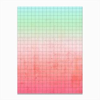 Watermelon Geometry Canvas Print