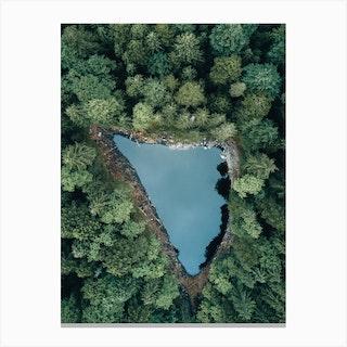 Hidden Forest Lake Canvas Print
