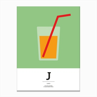 The Food Alphabet – J Canvas Print
